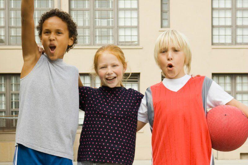 IMG: kids at a dodgeball tournament
