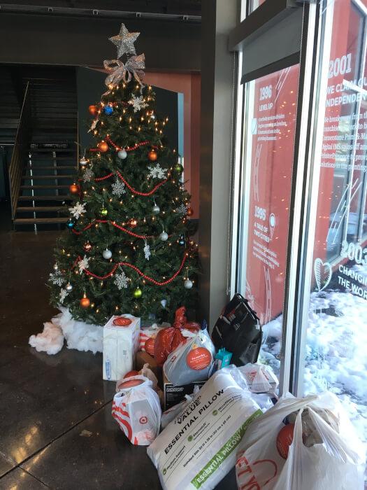 IMG: IMG: ornament on tree explaining needs of children for christmas