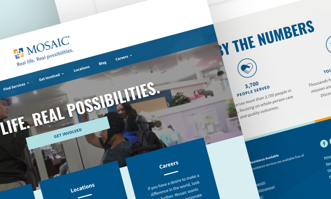 Nonprofit Website Client Success: Mosaic