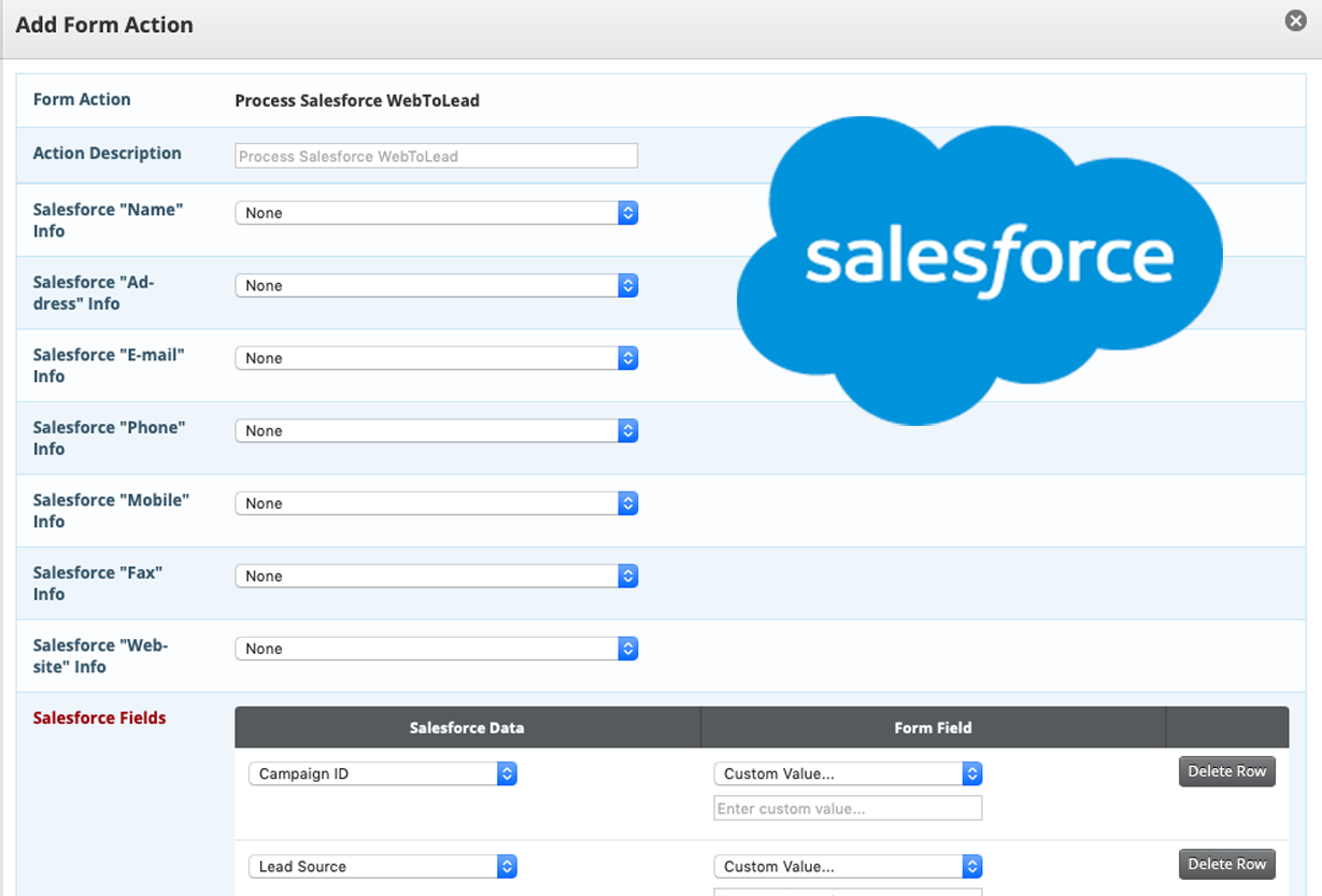 event registration salesforce integration