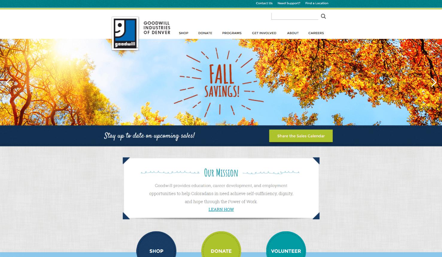 nonprofit custom design Goodwill Industries of Denver