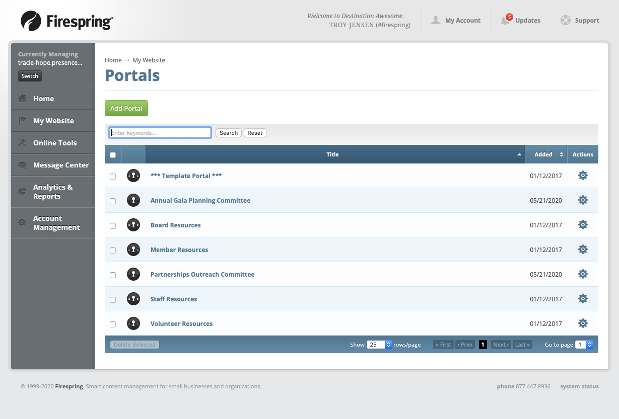 nonprofit board communication portals