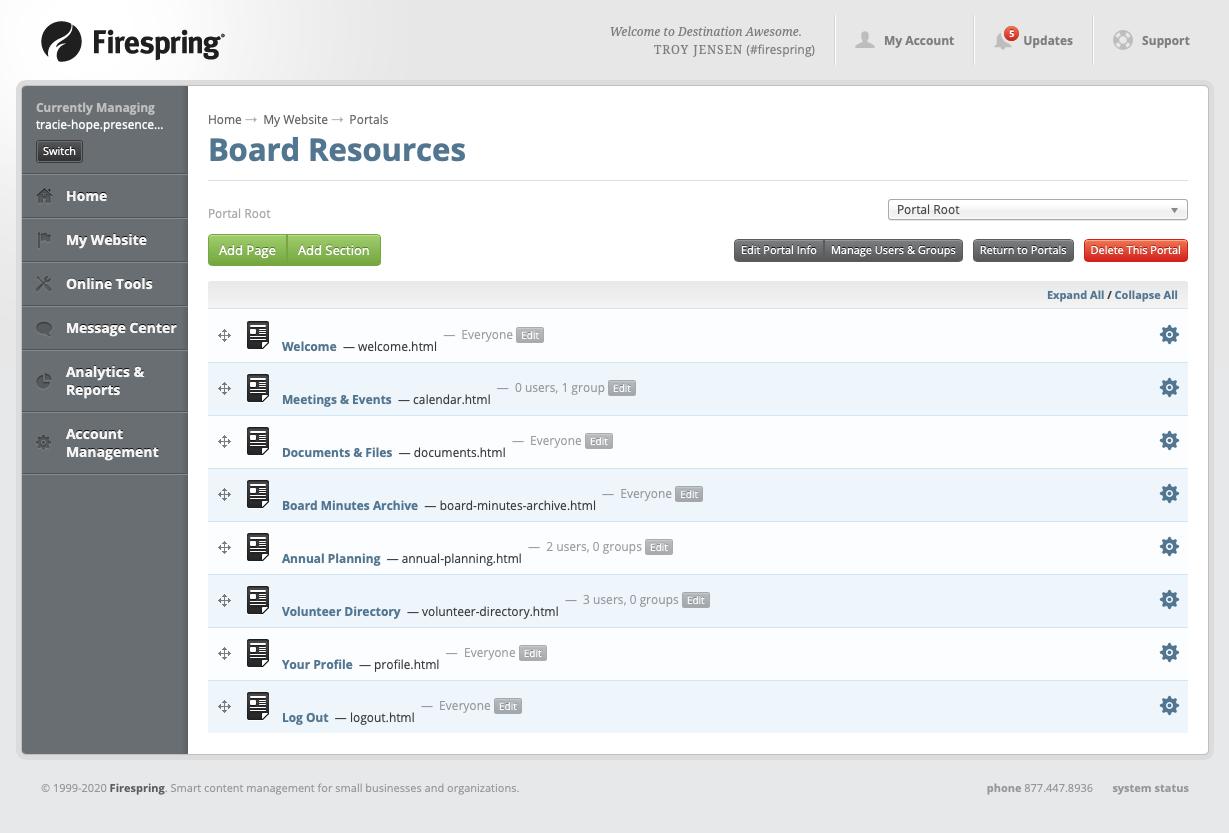 nonprofit board communication portal resources