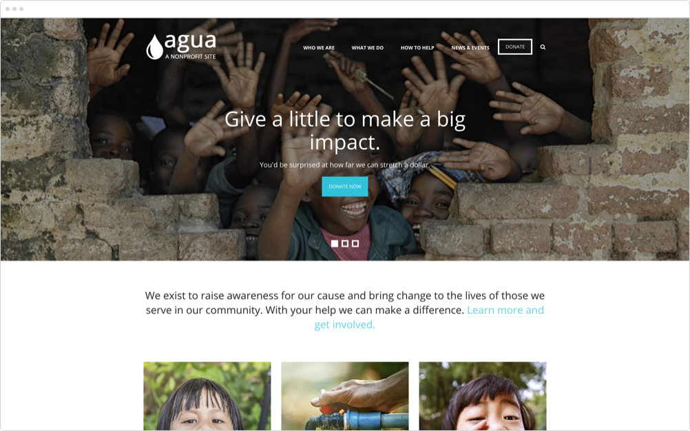 Nonprofit Website Design Agua