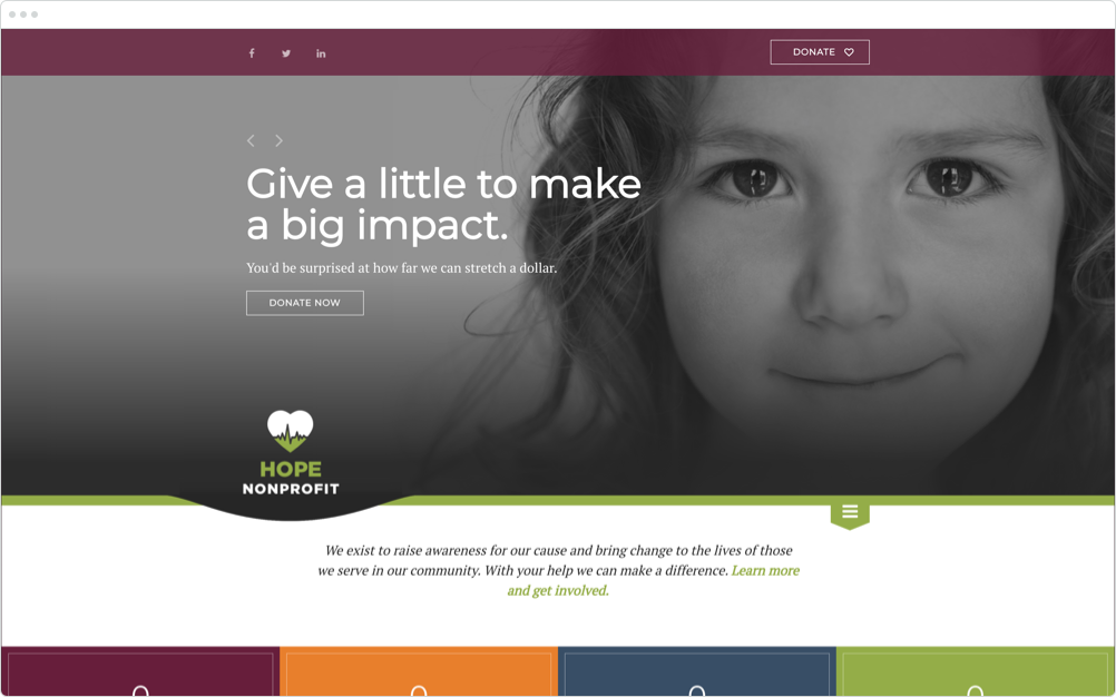 Nonprofit Website Design Hope