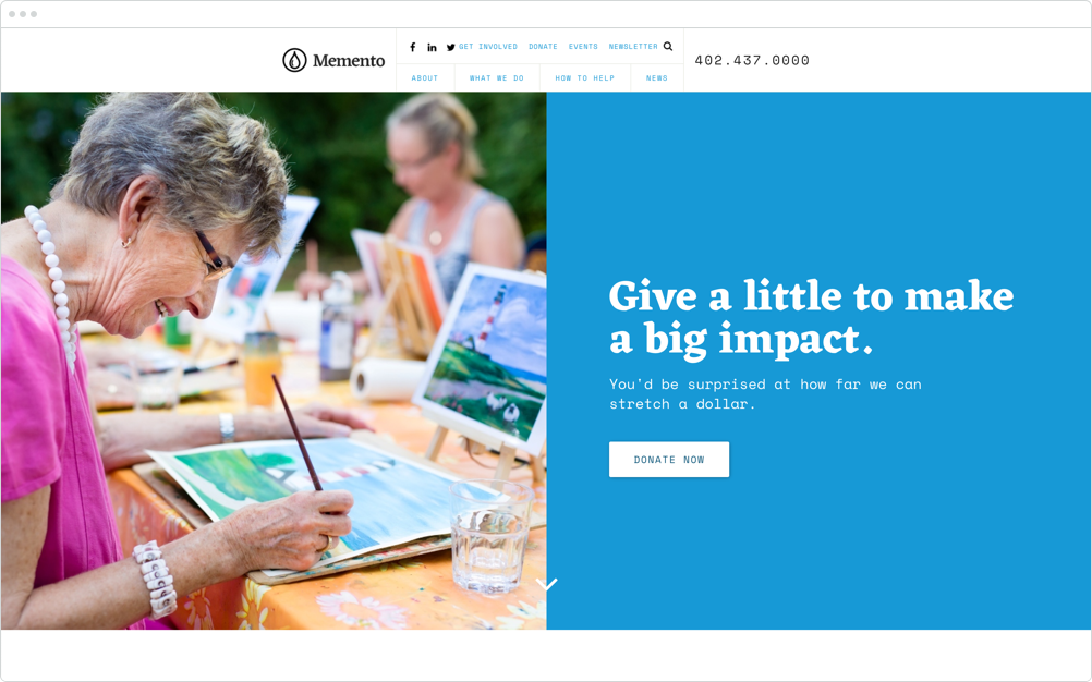 Nonprofit Website Design Momento