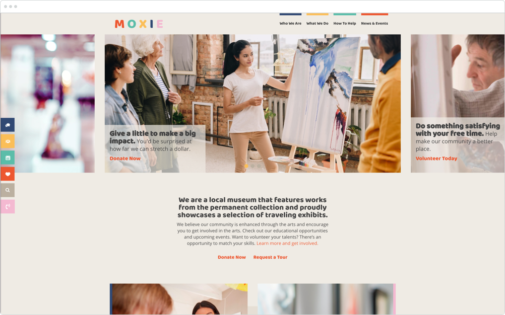 Nonprofit Website Design Moxie