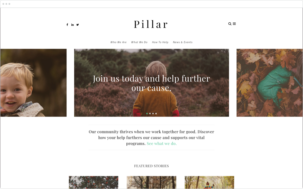 Nonprofit Website Design Pillar