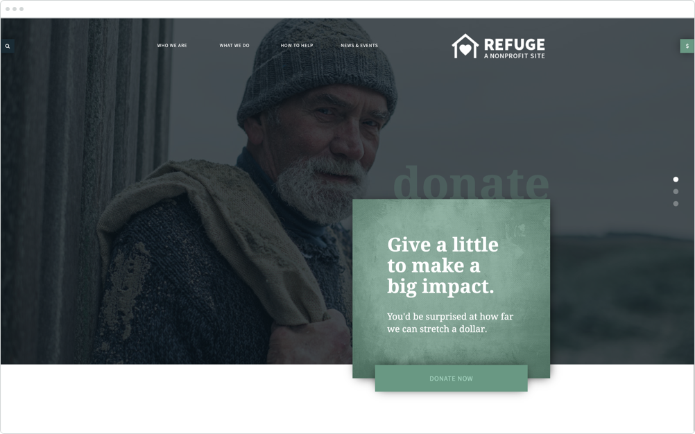 Nonprofit Website Design Refuge