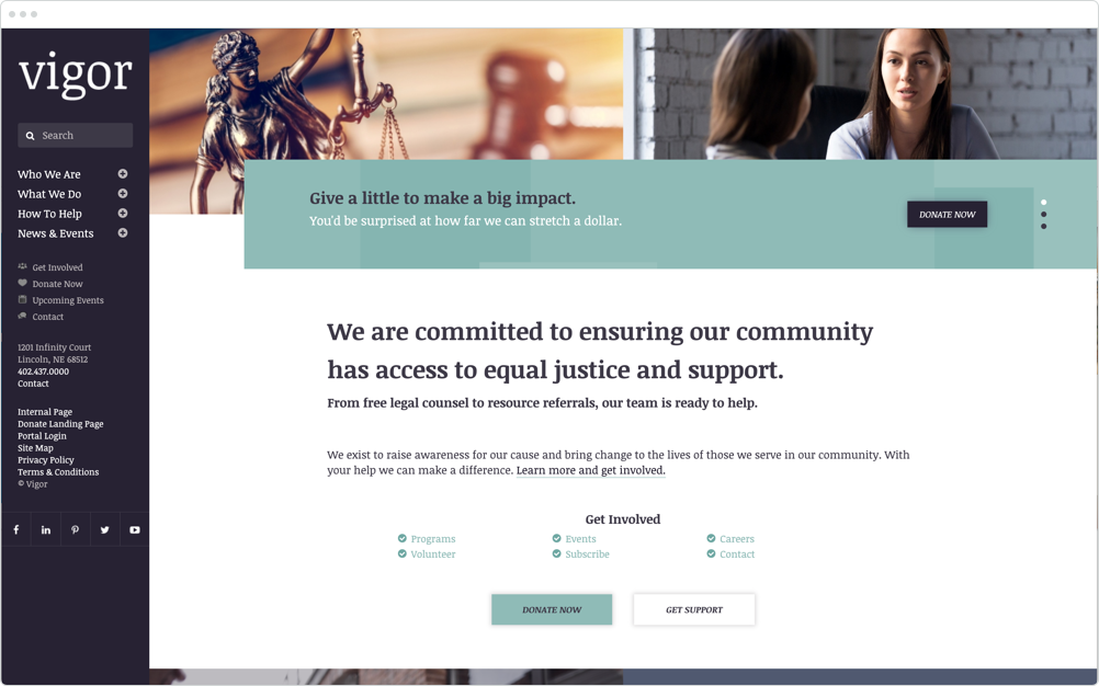 Nonprofit Website Design Vigor