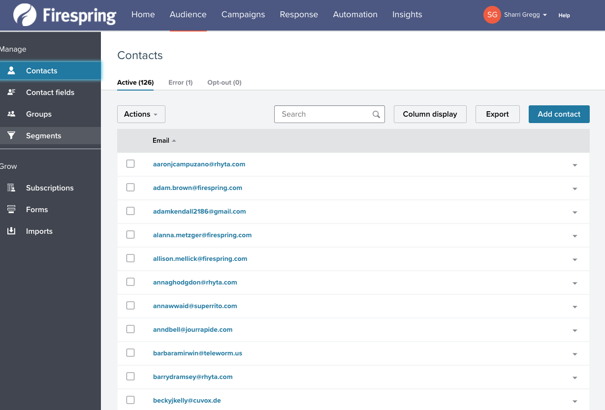 nonprofit email marketing automation list segmentation