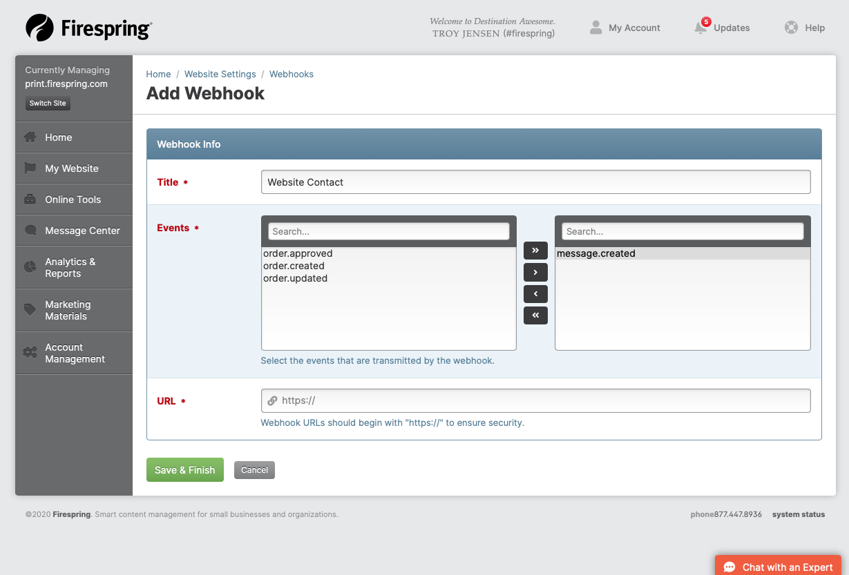 nonprofit integrations native webhooks