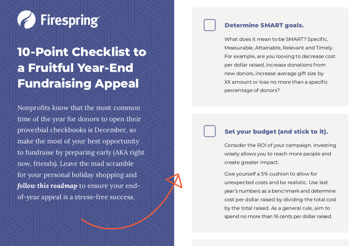 nonprofit strategy training support snapshot checklist