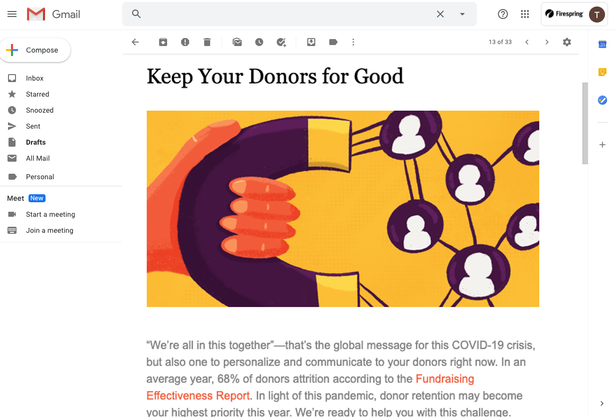 nonprofit strategy training support snapshot donors
