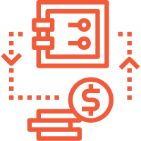 donation processing simplified accounting management icon