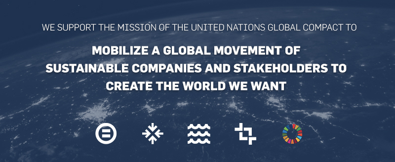 our pledge to the united nations global compact