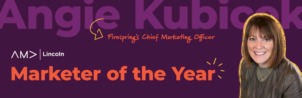 Angie Kubicek wins Marketer of the Year.