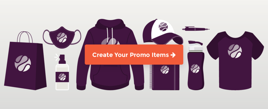 host a virtual fundraiser with promo items cta button