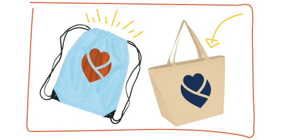 reusable branded bags