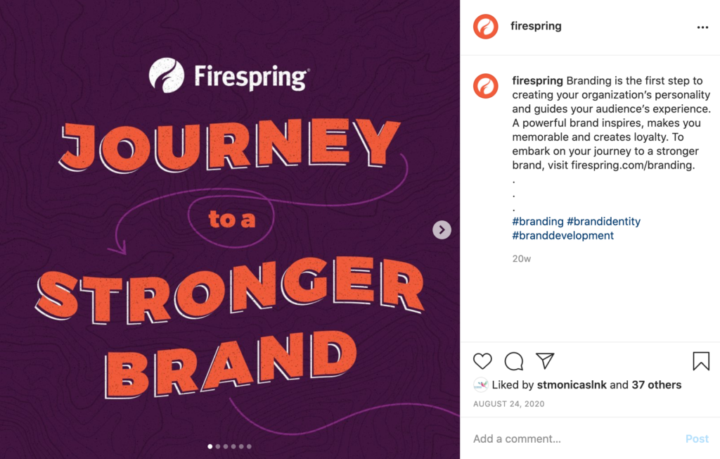 Print vs Digital Design: A social media post for Firespring