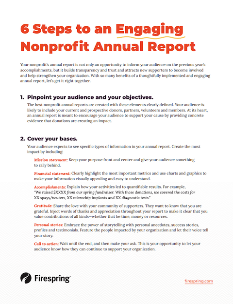 image illustrating annual report checklist