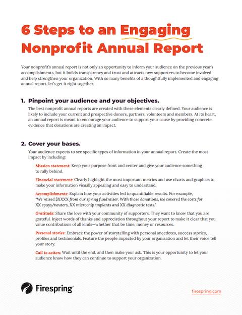 image illustrating annual report checklist