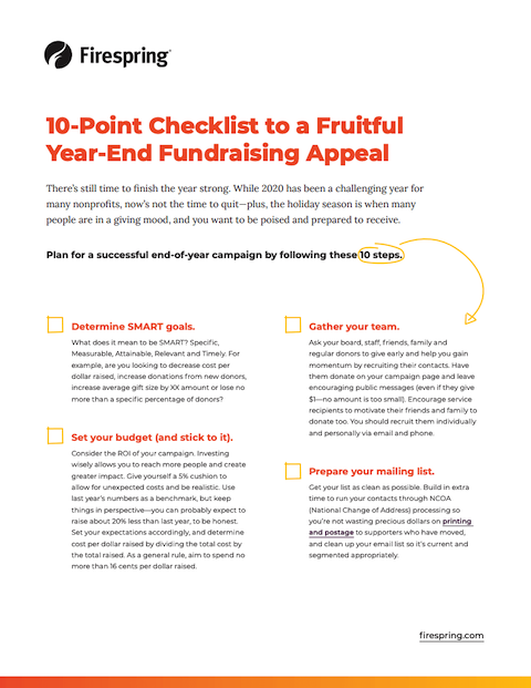 image illustrating year-end fundraising checklist
