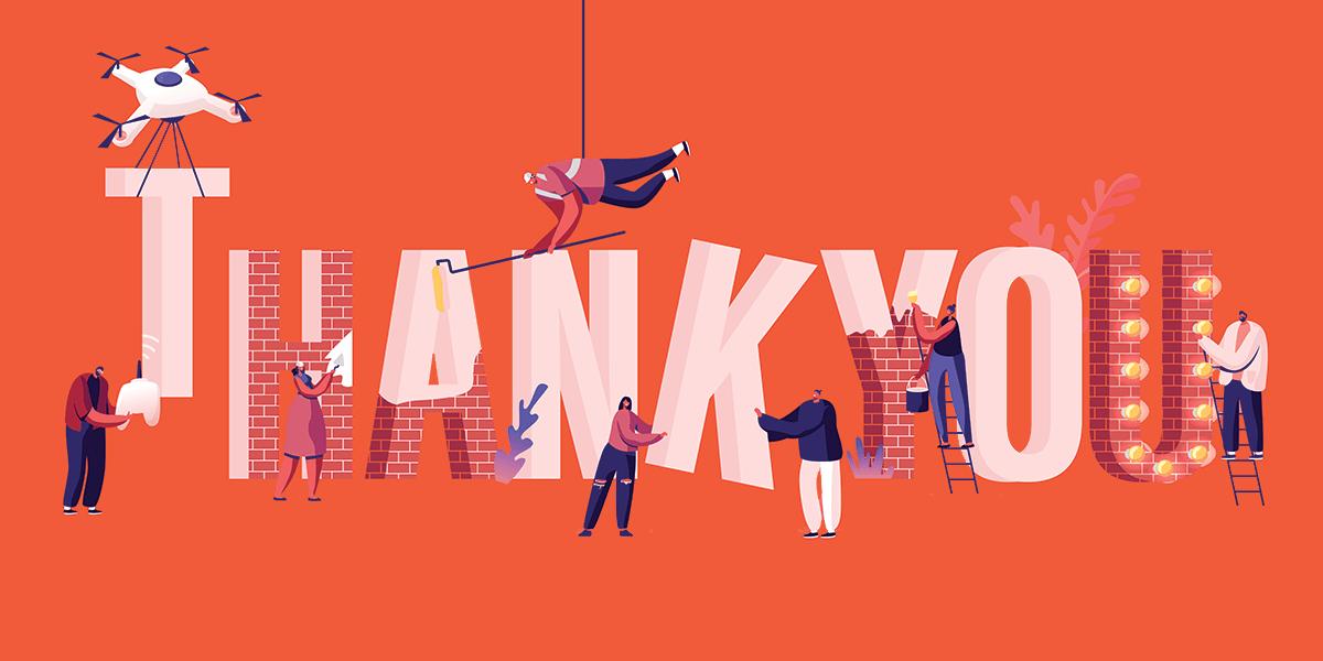 image illustrating thanking donors