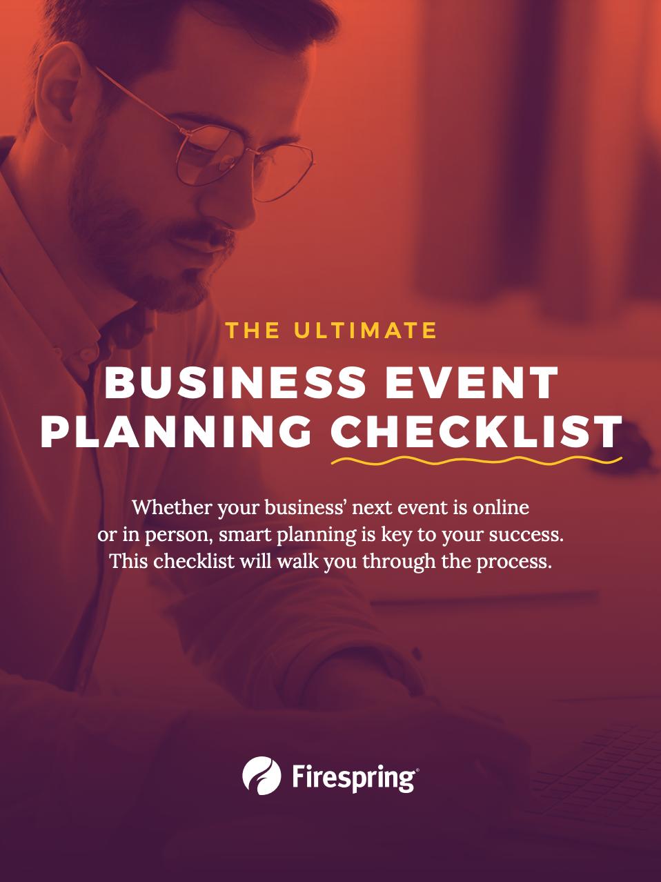 Business event planning checklist
