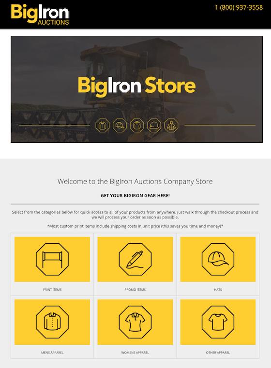bigiron's custom print portal