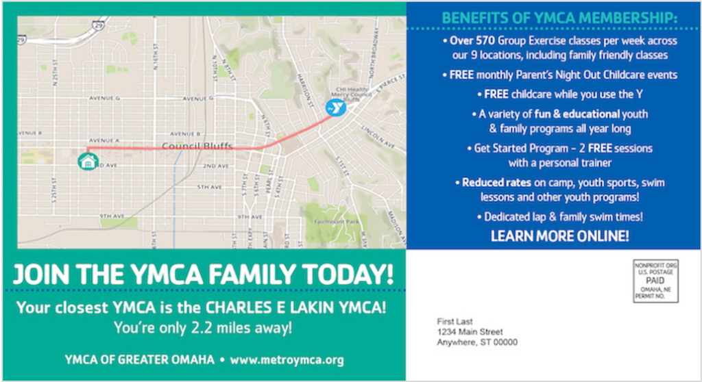 YMCA direct mailer